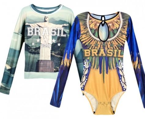 Coleçâo da Tigresse para a Copa do Mundo: body, camisetas e moletons.