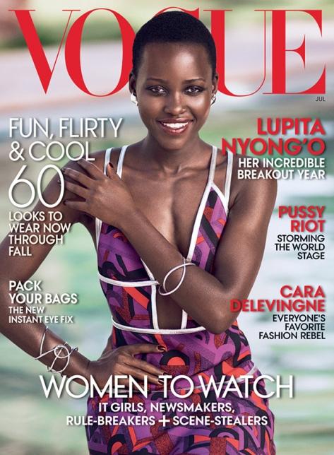 Lupita pela primeira vez na capa da Vogue