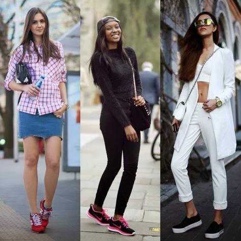 As blogueiras Nika, Natasha e Tina seguindo a tendência