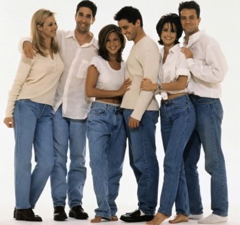 O estilo dos Friends na década de 90.