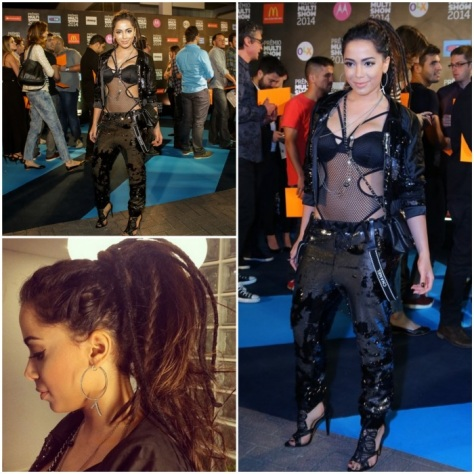 A cantora Anitta vestiu Coca Cola Clothing.
