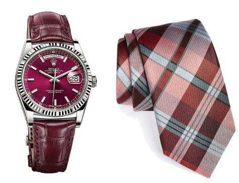 Marsala-tie MK_watch Rolex