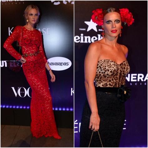 Carol Trentini e Carolina Dieckmann optaram por produções Dolce & Gabbana