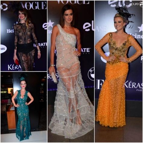 Luciana Gimenez, Milena Toscano,  vera Viel e nathalia Rodrigues usaram vestidos Lethicia Bronstein