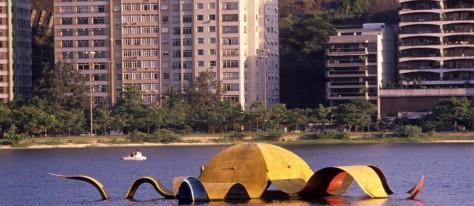 Escultura Estrela do Mar, na Lagoa Rodrigo de Freitas, RJ