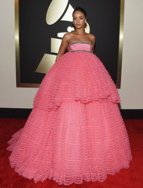 rihanna-grammys-2015-Getty