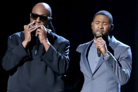 Stevie-Wonder-and-Usher-perform-onstage-during-The-57th-Annual-GRAMMY-Awards-at-the-STAPLES-Center