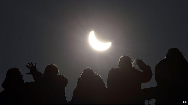 Eclipse visto do sul da Inglaterra