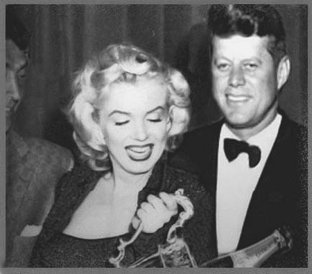 O caso mais famoso de MM seria seu affair com o presidente Kennedy